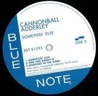 CANNONBALL ADDERLEY Somethin' Else Vinyl Record LP Blue Note 2016